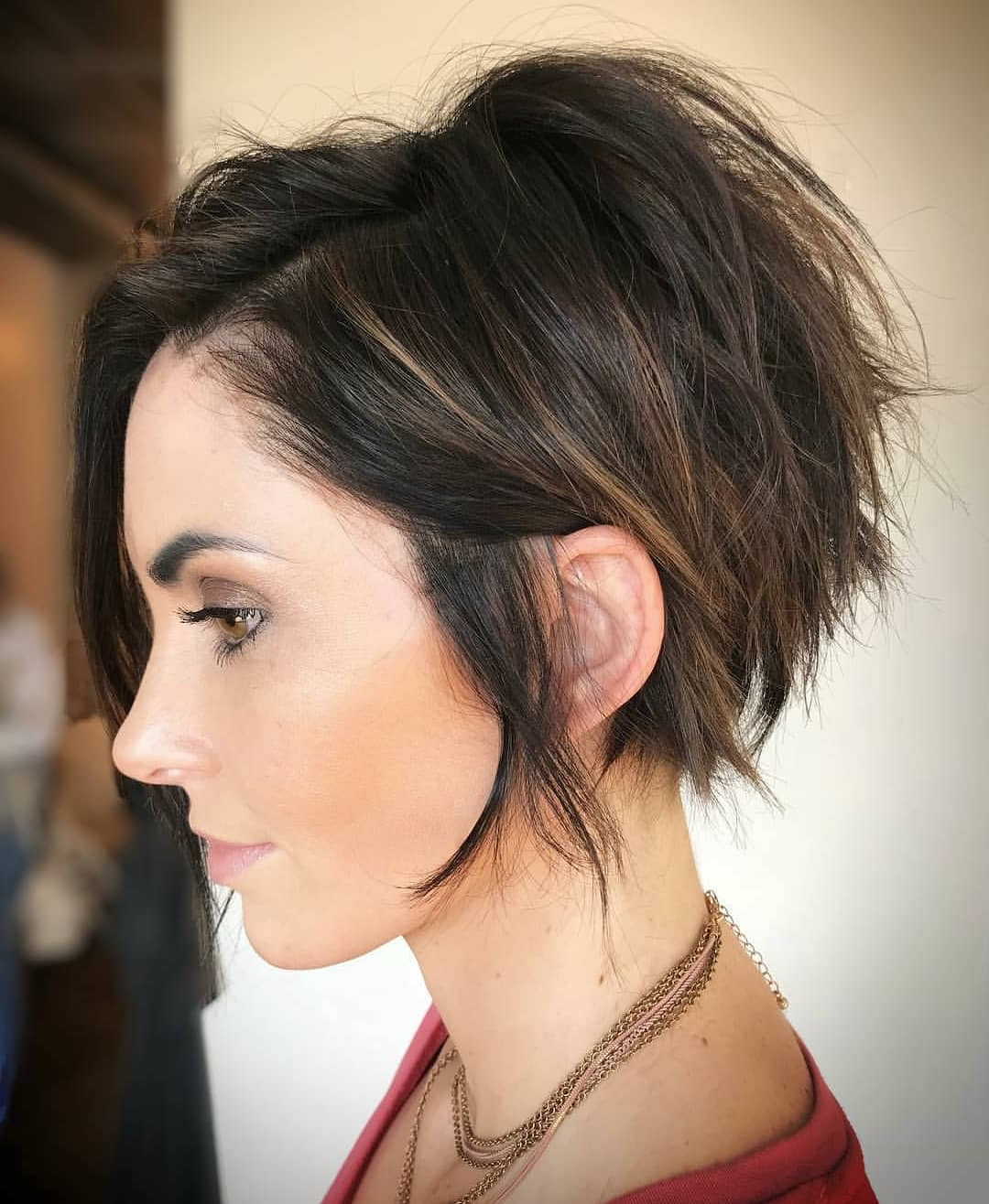 10 Fab Short Hairstyles With Texture & Color, 2018 Women Short Haircuts In Short Haircuts For Curvy Women (View 2 of 25)