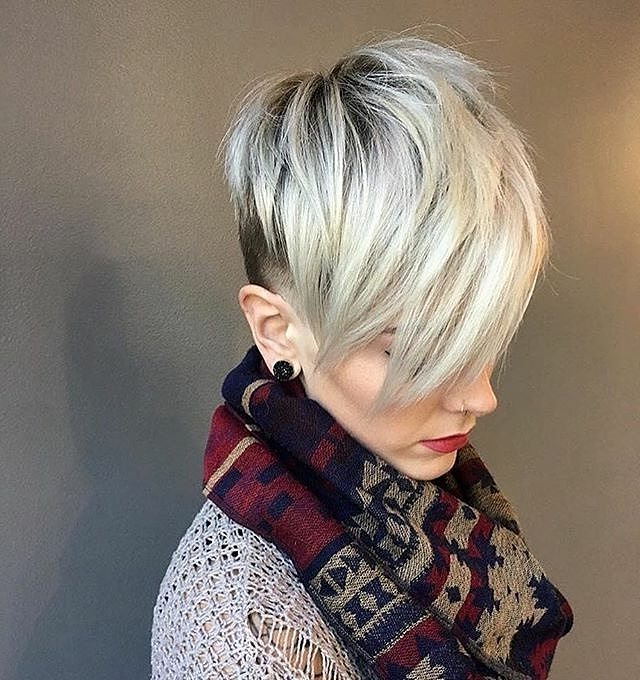 10 Fab Short Hairstyles With Texture & Color, 2018 Women Short Haircuts Regarding Choppy Rounded Ash Blonde Bob Haircuts (View 24 of 25)