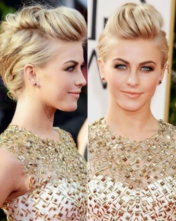10 Faux Hawk Hairstyles For 2016 Intended For Faux Hawk Ponytail Hairstyles (View 2 of 25)