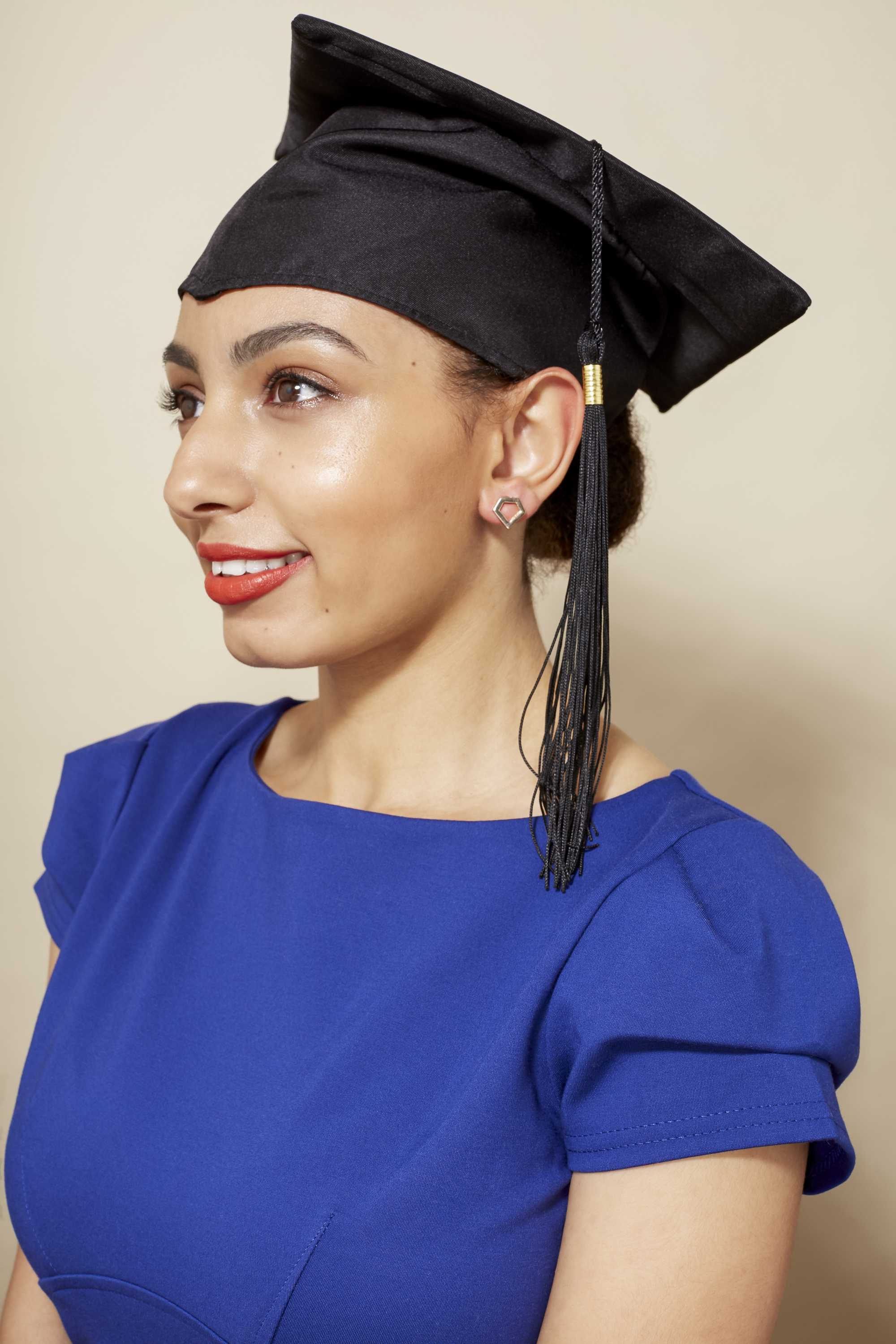 10 Graduation Hairstyles That'll Look Fabulous Under Your Cap With Short Hair Graduation Cap (View 11 of 25)