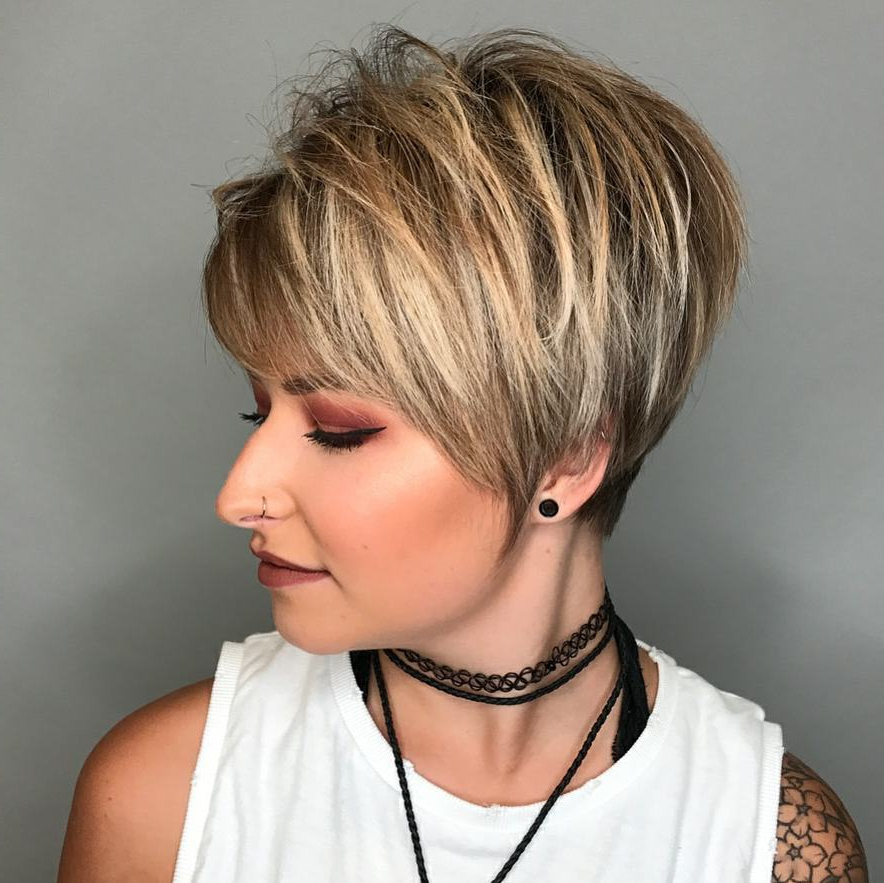 10 Hi Fashion Short Haircut For Thick Hair Ideas  2018 Women Short Inside Straight Pixie Hairstyles For Thick Hair (View 18 of 25)