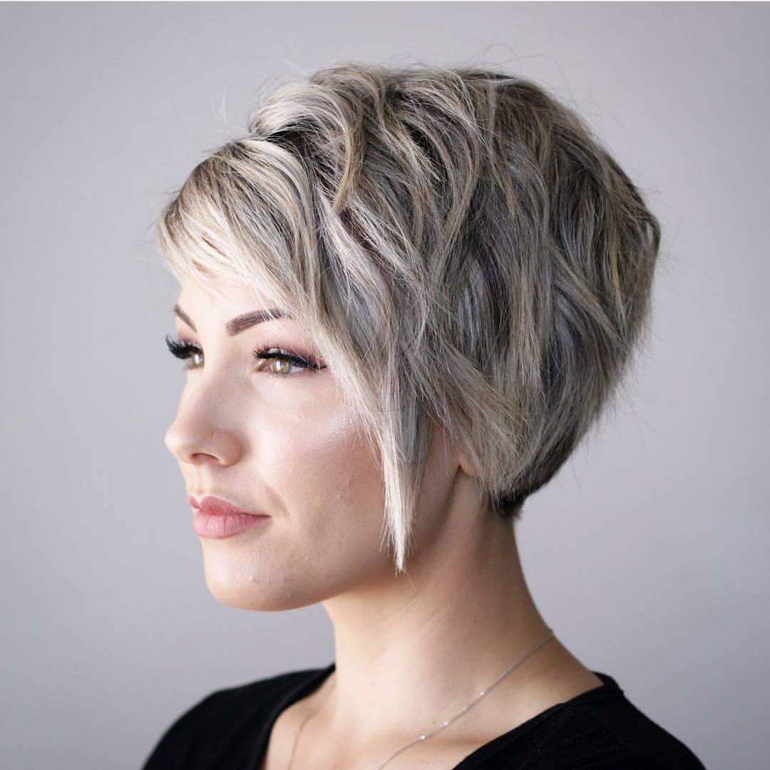 10 Hi Fashion Short Haircut For Thick Hair Ideas  2018 Women Short Throughout Short Haircuts With Gray Hair (View 22 of 25)