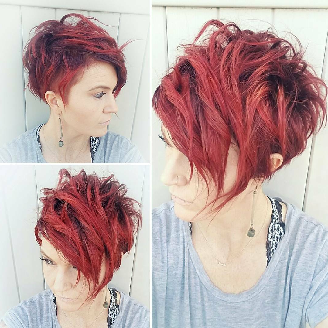 10 Highly Stylish Short Hairstyle For Women – 2018 Short Haircut Trends Regarding Bright Red Short Hairstyles (View 12 of 25)