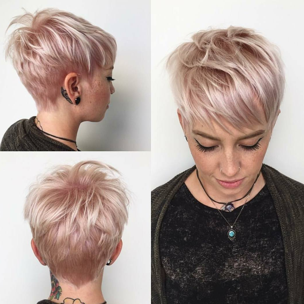 10 Highly Stylish Short Hairstyle For Women – 2018 Short Haircut Trends Regarding Pink Short Haircuts (View 2 of 25)