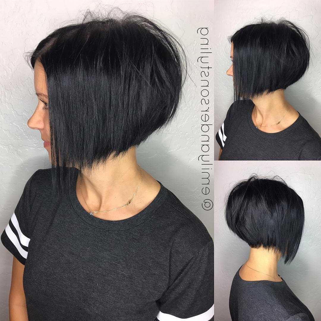 10 Latest Inverted Bob Haircuts: 2018 Short Hairstyle, High Fashion Inside Edgy Short Bob Haircuts (View 3 of 25)