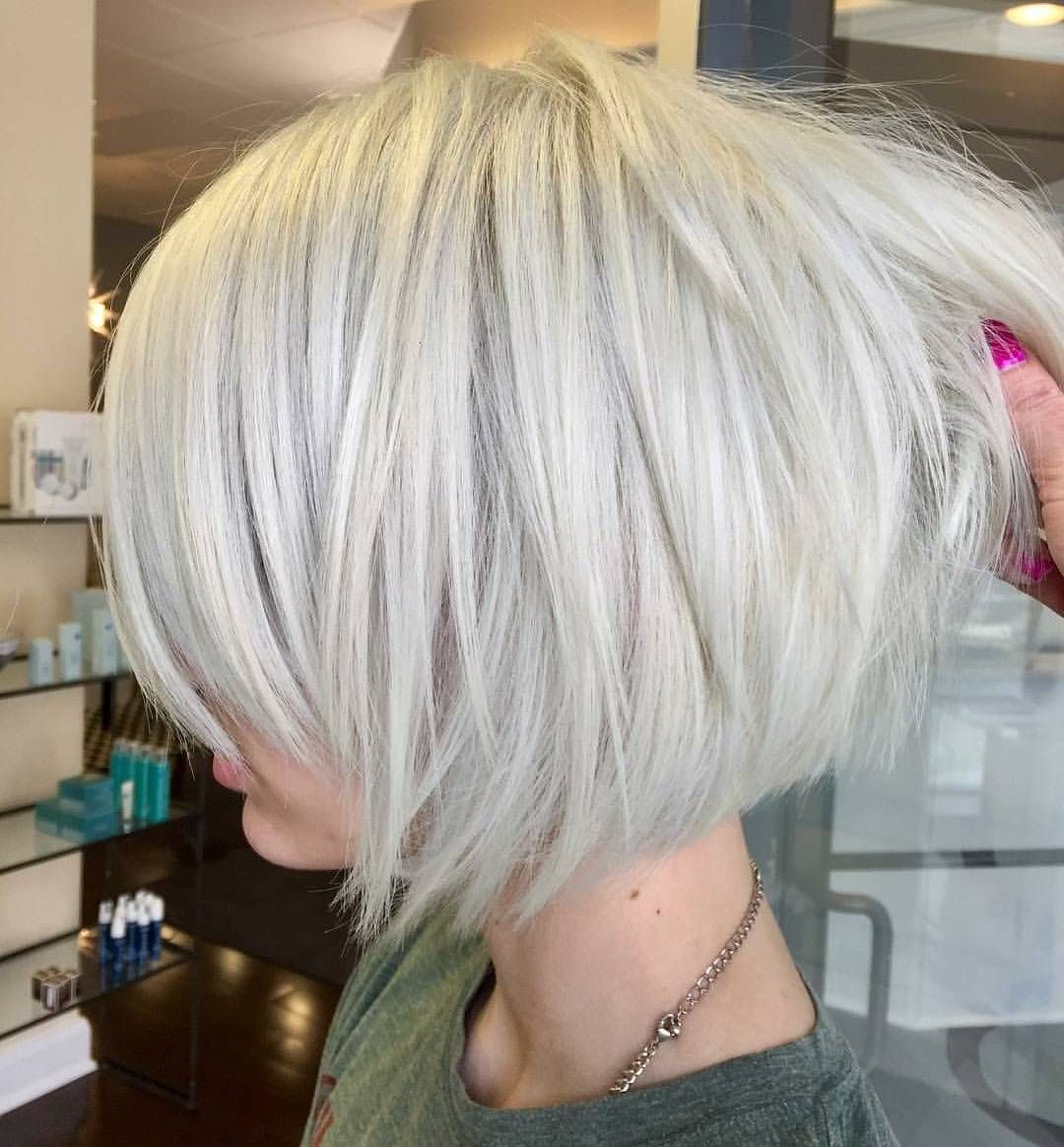 10 Layered Bob Hairstyles – Look Fab In New Blonde Shades | Hair Inside White Blonde Curly Layered Bob Hairstyles (View 2 of 25)