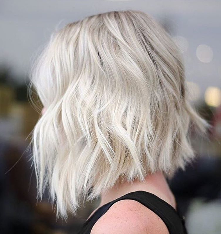 10 Lob Haircut Ideas – Edgy Cuts & Hot New Colors – Popular Haircuts With White Blonde Bob Haircuts For Fine Hair (View 18 of 25)