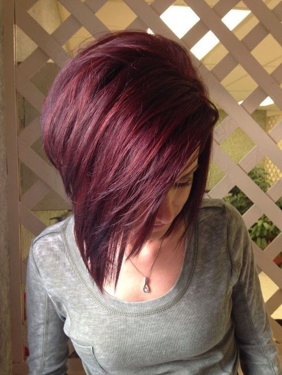 10 Mahogany Hair Color Ideas: Ombre, Balayage Hairstyles 2019 | Hair Throughout Stacked Black Bobhairstyles  With Cherry Balayage (View 4 of 25)