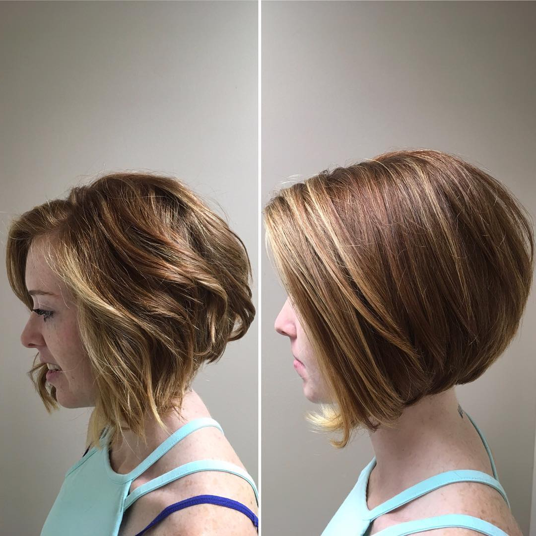10 Modern Bob Haircuts For Well Groomed Women: Short Hairstyles 2018 For Nape Length Wavy Ash Brown Bob Hairstyles (View 13 of 25)