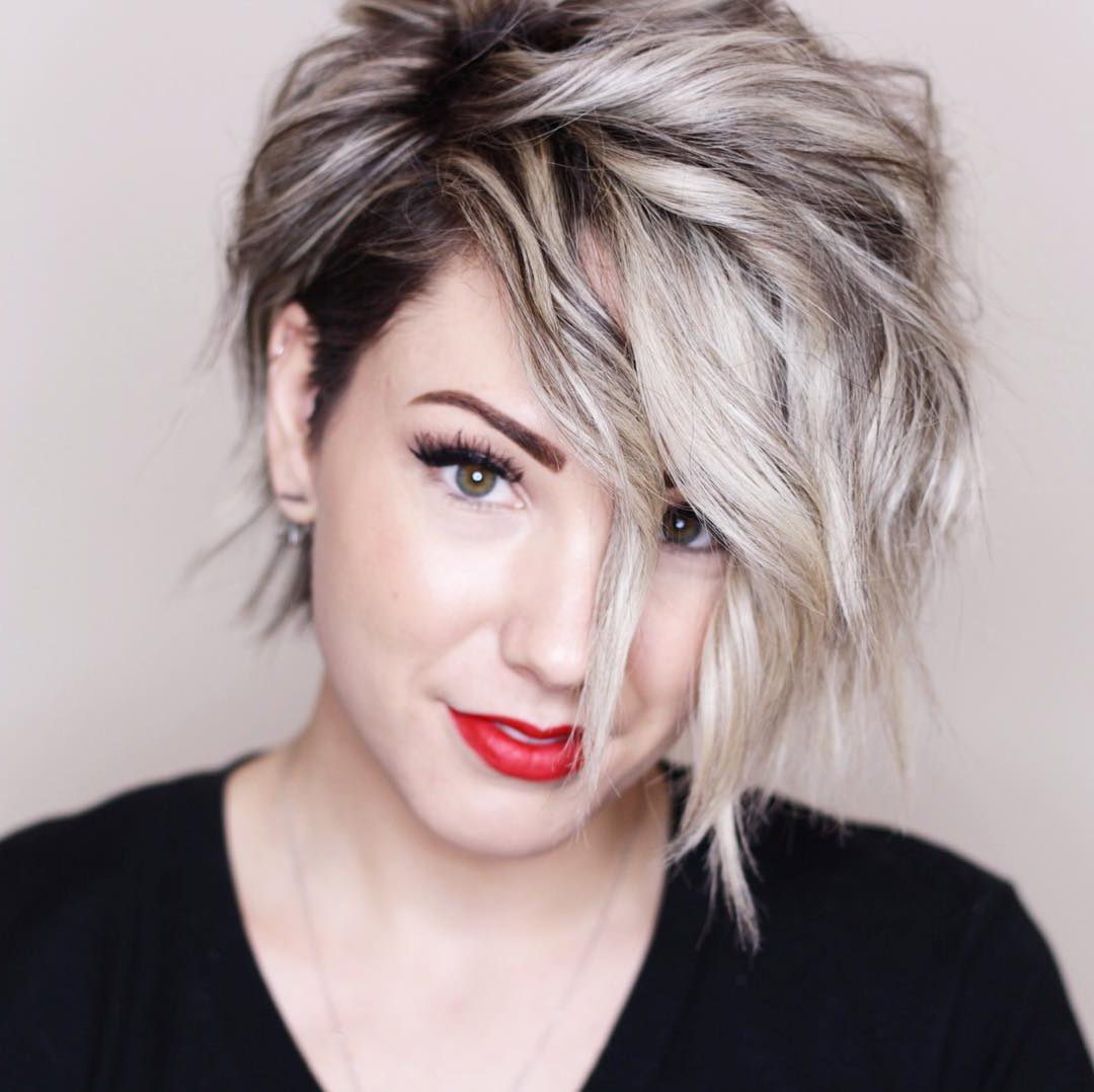 10 New Short Hairstyles For Thick Hair 2018, Women Haircut Ideas In Messy Short Haircuts For Women (View 5 of 25)