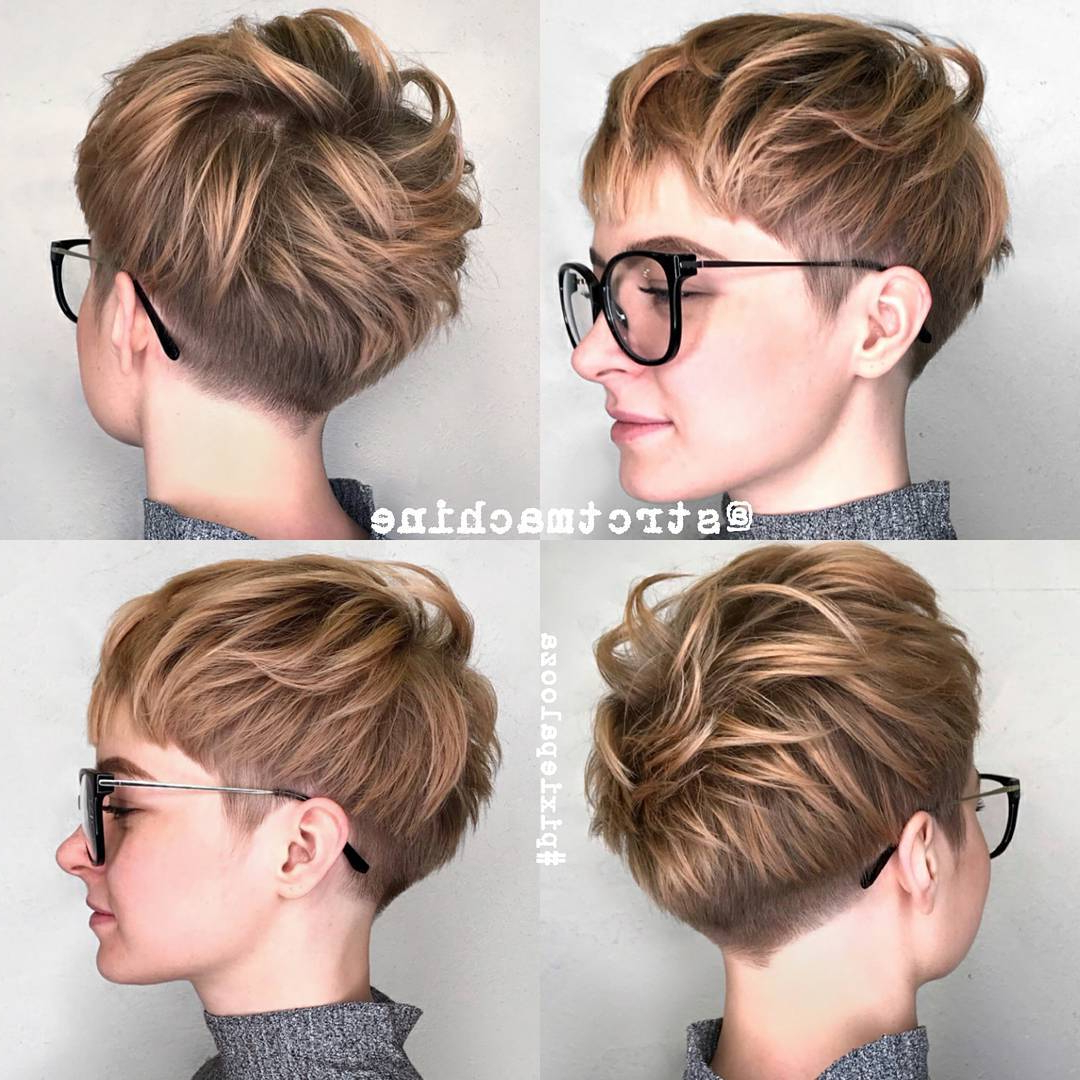10 New Short Hairstyles For Thick Hair 2018, Women Haircut Ideas Throughout Short Haircuts That Cover Your Ears (View 17 of 25)
