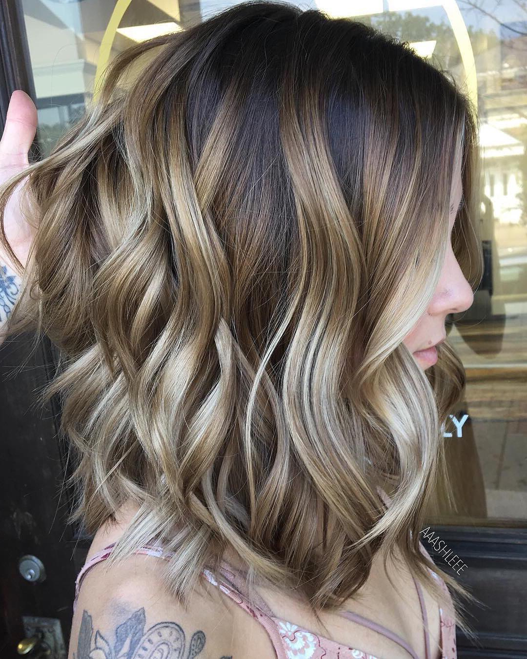 10 Ombre Balayage Hairstyles For Medium Length Hair, Hair Color 2018 With Regard To Loosely Waved Messy Brunette Bob Hairstyles (View 19 of 25)