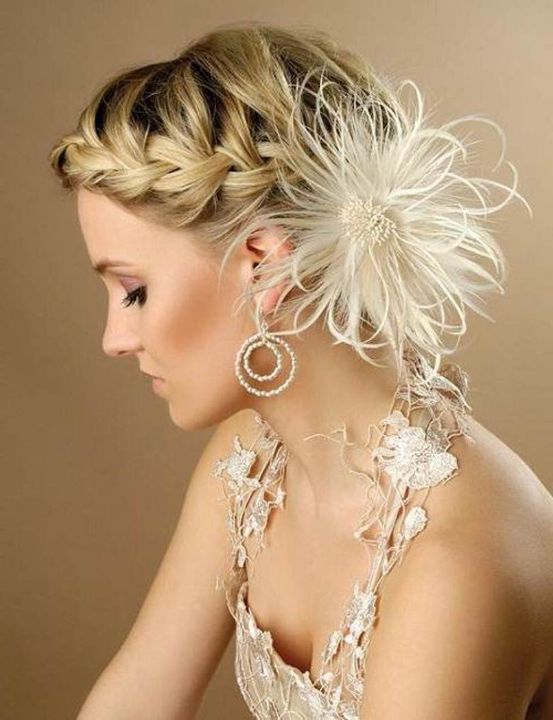 10 Popular Wedding Hairstyles For Short Hair – Style Samba With Brides Hairstyles For Short Hair (View 12 of 25)