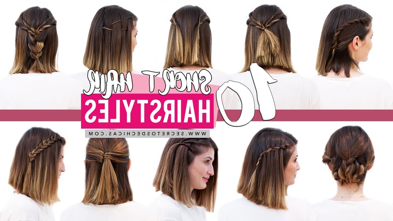 10 Quick And Easy Hairstyles For Short Hair | Patry Jordan – Youtube Within Cute Hairstyles For Shorter Hair (View 3 of 25)