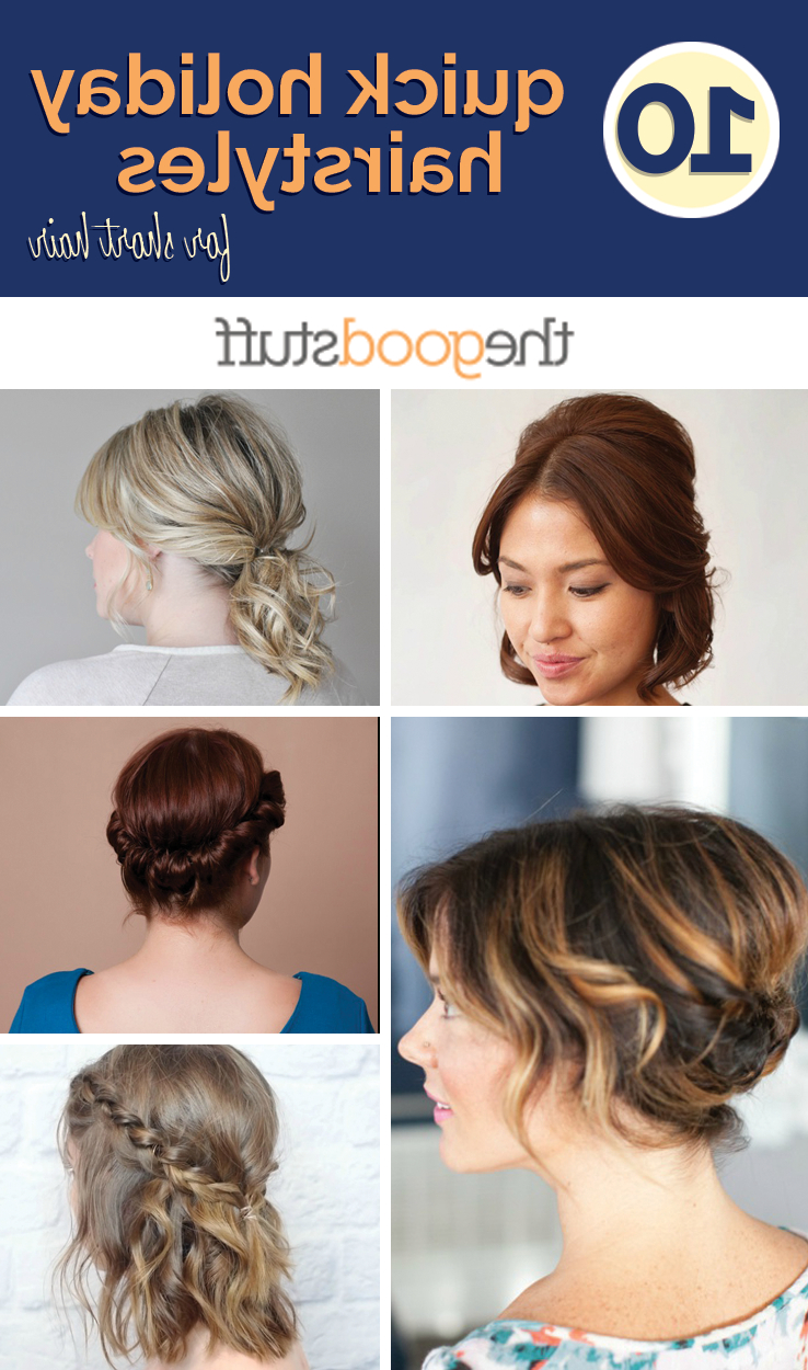 10 Quick Holiday Hairstyles For Short Hair – Thegoodstuff Intended For Cool Hairstyles For Short Hair Girl (View 5 of 25)