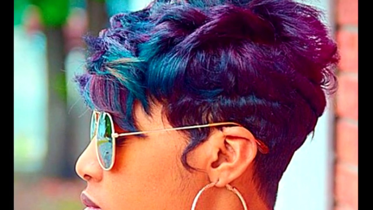 10 Sassy And Sexy Black Pixie Cuts For Woman – Youtube Inside Purple And Black Short Hairstyles (View 13 of 25)