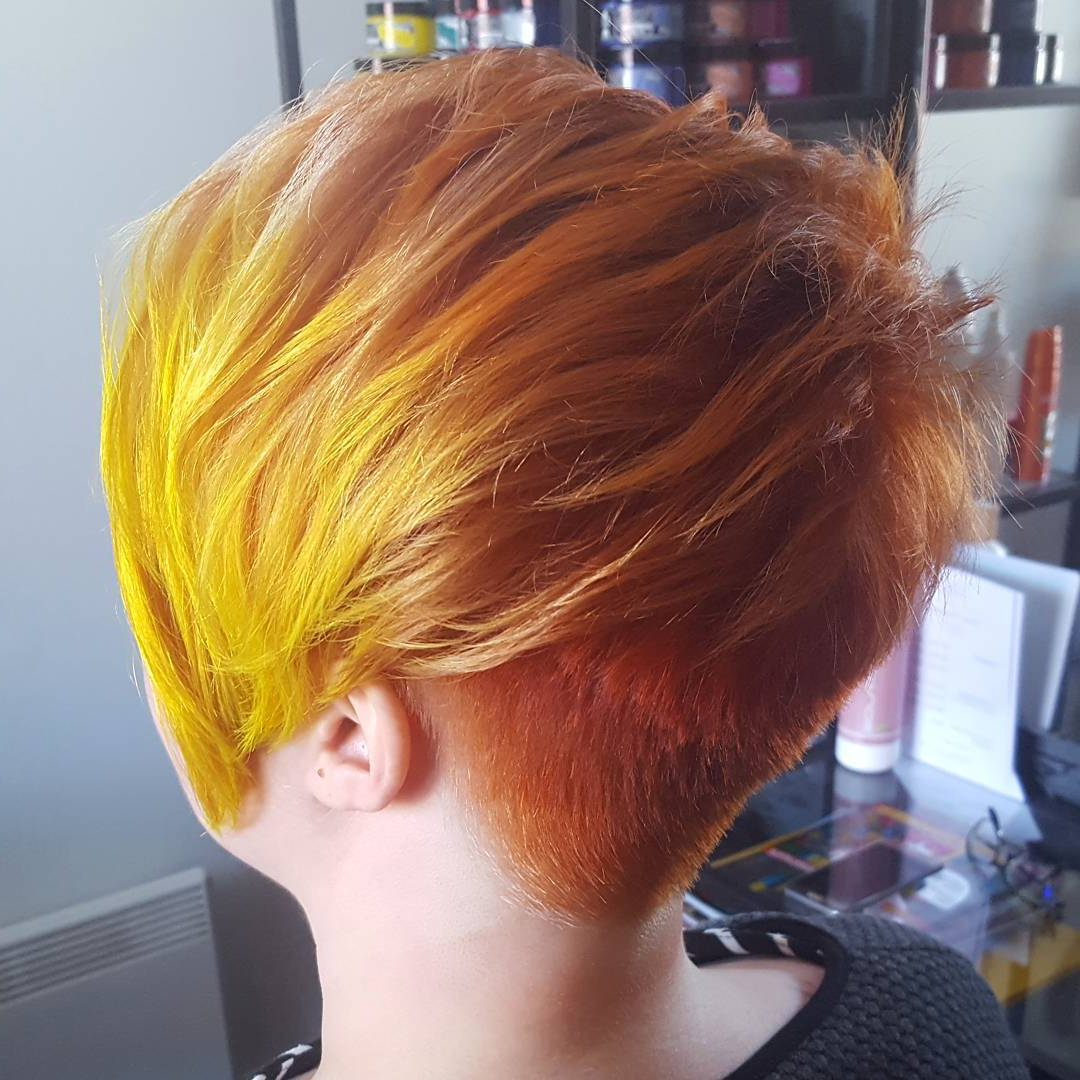10 Short Edgy Haircuts For Women – Try A Shocking New Cut & Color With Regard To Fire Red Short Hairstyles (View 16 of 25)