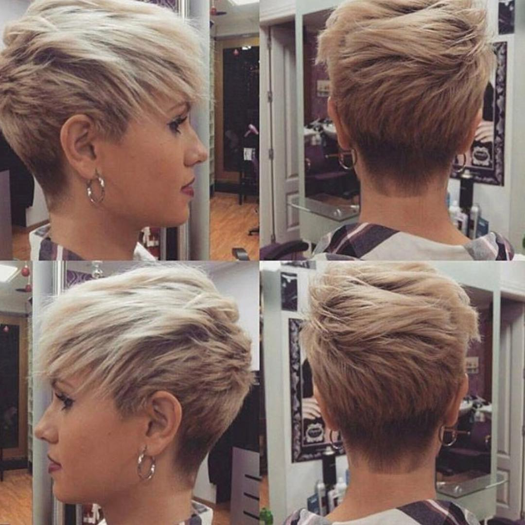10 Short Haircuts For Fine Hair 2018: Great Looks From Office To Beach! With Short Hairstyles For The Over 50S (View 24 of 25)