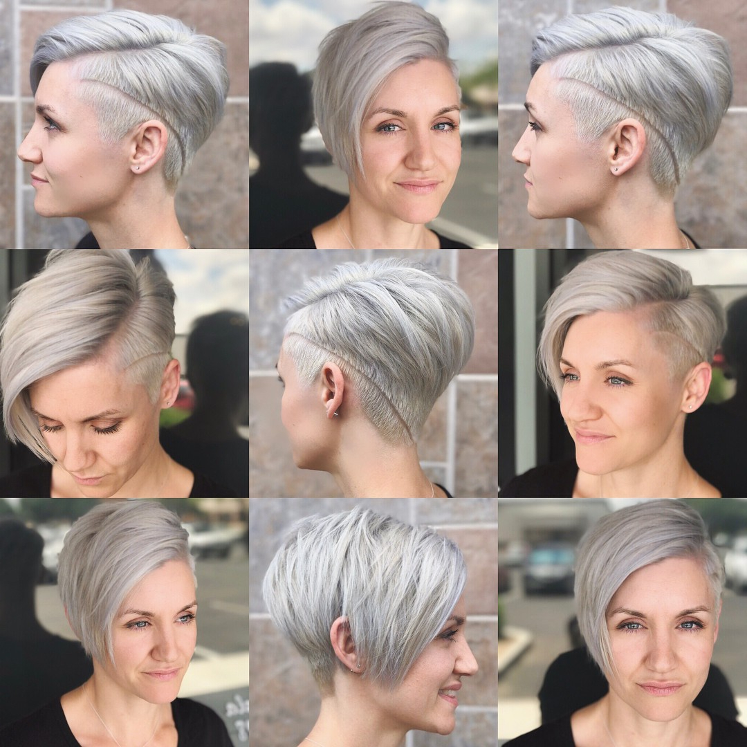 10 Short Hairstyles For Women Over 40 – Pixie Haircuts 2018 Intended For Edgy Asymmetrical Short Haircuts (View 5 of 25)