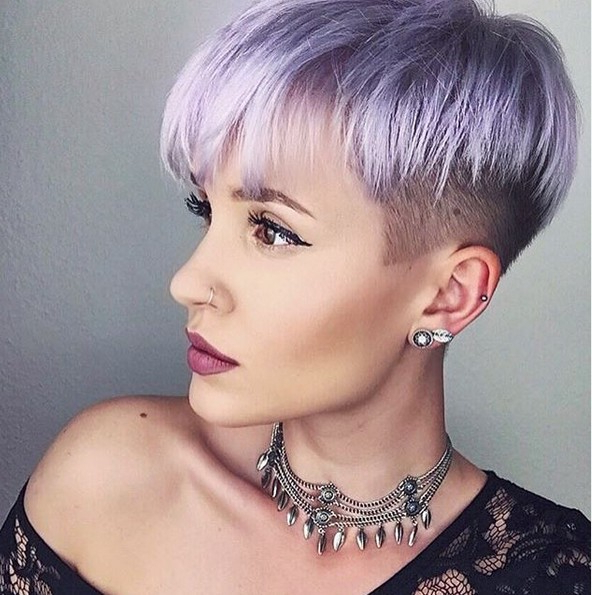 10 Trendy Bowl Cuts And Styles: Very Short Hairstyle Ideas 2019 Regarding Sexy Pastel Pixie Hairstyles (View 13 of 25)
