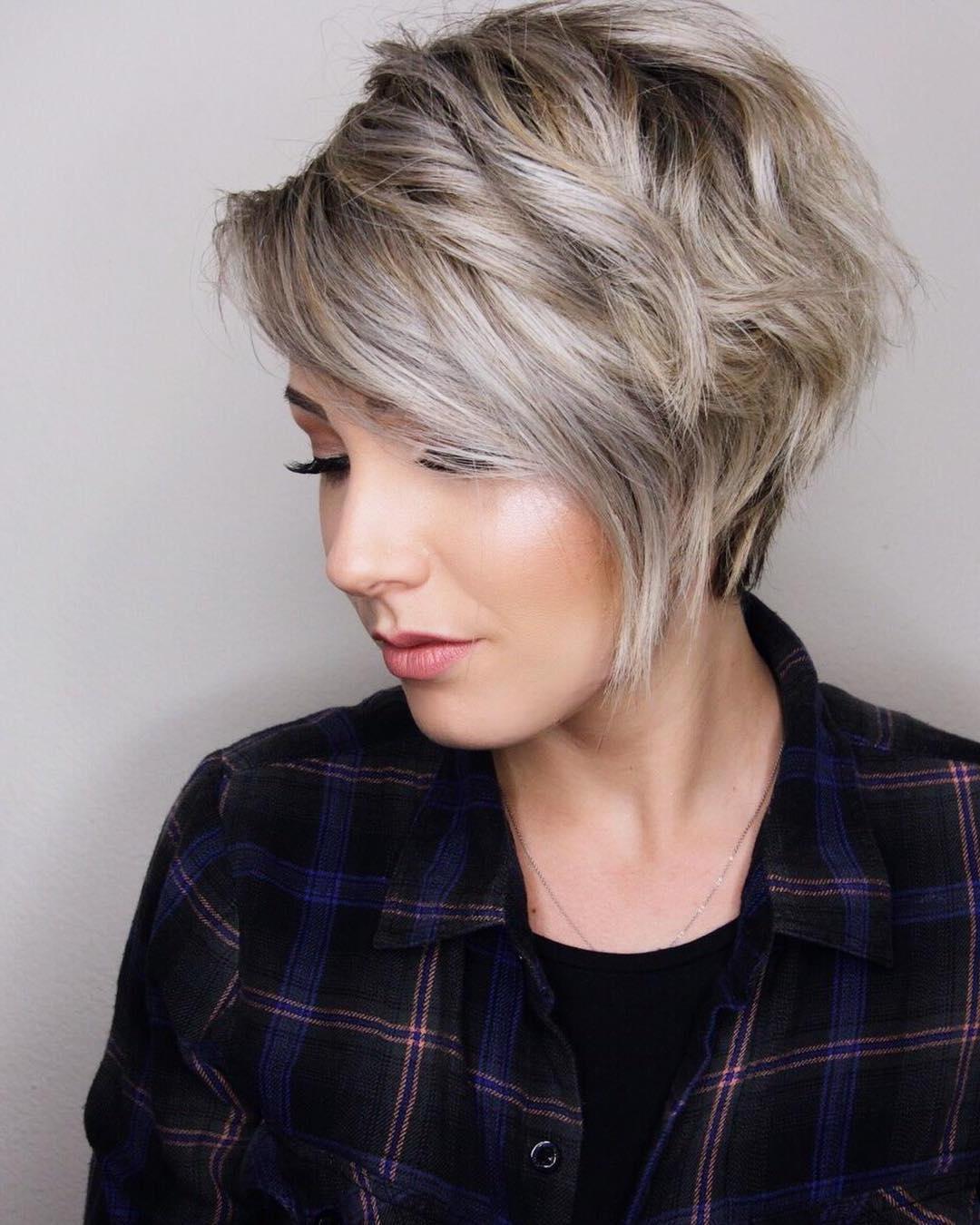 10 Trendy Layered Short Haircut Ideas For 2017 2018 – 'extra Regarding Asymmetric Short Haircuts (View 15 of 25)