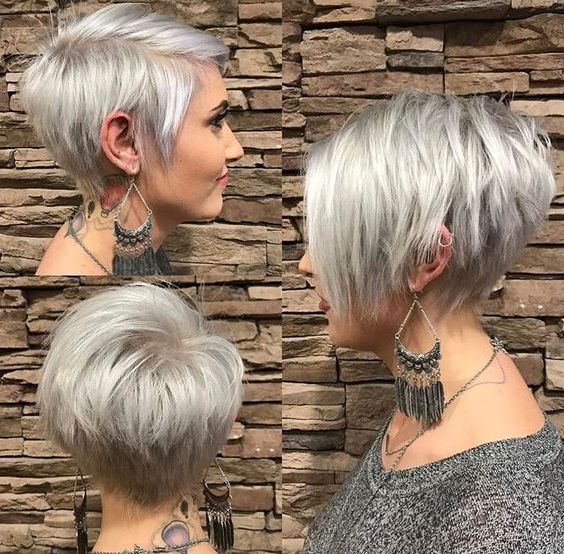 10 Trendy Pixie Hair Cut For Blondes & Brunettes 2019 In Ash Blonde Undercut Pixie Haircuts (View 15 of 25)