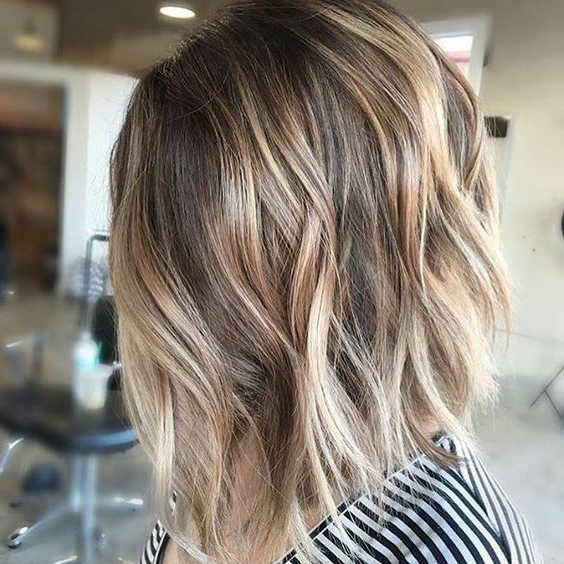 10 Winning Looks With Layered Bob Hairstyles: 2017 Short Hair Cuts Regarding Caramel Blonde Rounded Layered Bob Hairstyles (View 7 of 25)