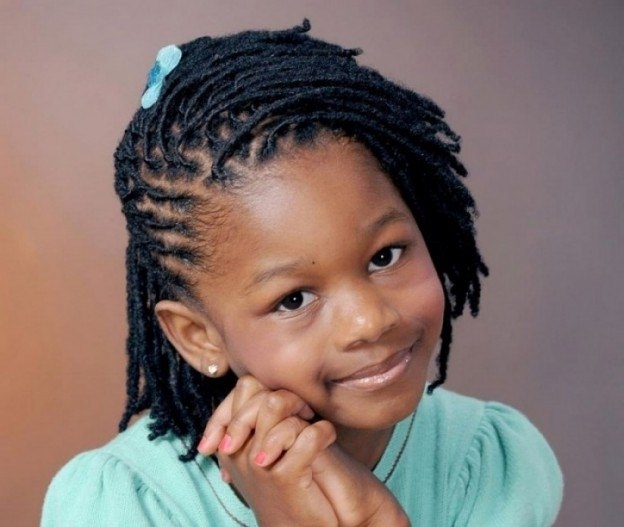100 Captivating Braided Hairstyles For Black Girls? Within Diagonally Braided Ponytail Hairstyles (View 19 of 25)