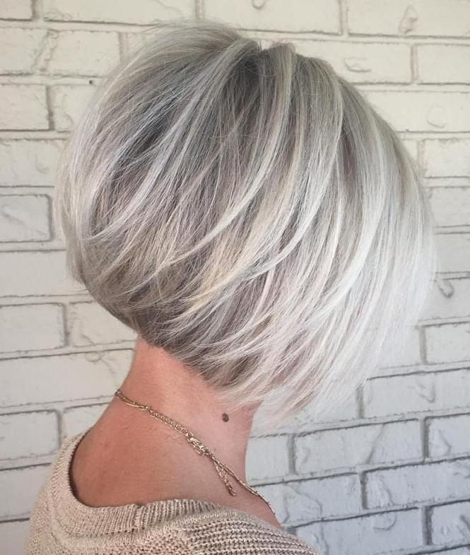 100 Mind Blowing Short Hairstyles For Fine Hair   Balayage, Bobs And Inside Silver Balayage Bob Haircuts With Swoopy Layers (View 13 of 25)