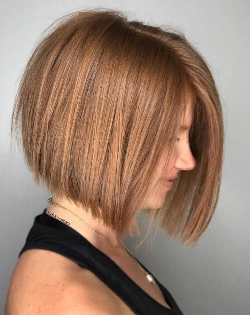 100 Mind Blowing Short Hairstyles For Fine Hair   Bob Hair Inside Perfectly Angled Caramel Bob Haircuts (View 1 of 25)