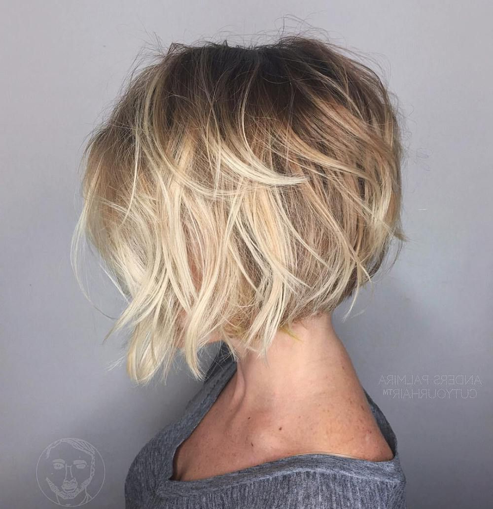 100 Mind Blowing Short Hairstyles For Fine Hair | Bobs, Blonde Regarding Angelic Blonde Balayage Bob Hairstyles With Curls (View 3 of 25)