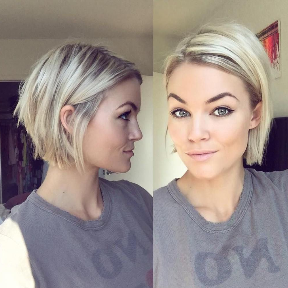 100 Mind Blowing Short Hairstyles For Fine Hair | Chin Length Bob In Short Hairstyles For Thin Fine Hair (View 7 of 25)