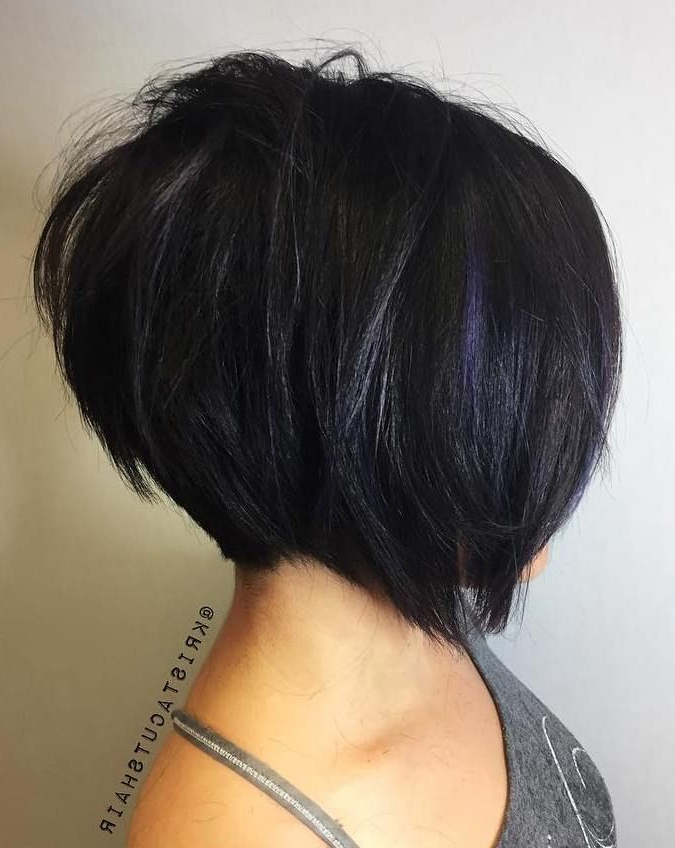 100 Mind Blowing Short Hairstyles For Fine Hair | Choppy Layers Within Black Inverted Bob Hairstyles With Choppy Layers (View 2 of 25)