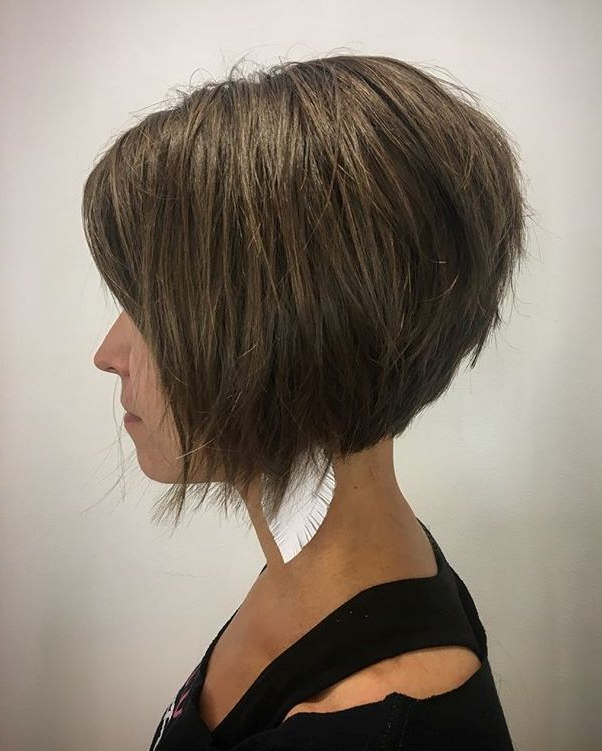 100 Mind Blowing Short Hairstyles For Fine Hair   Christmas Throughout Razored Brown Bob Hairstyles (View 4 of 25)