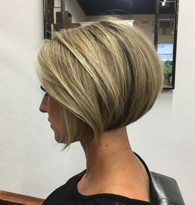 100 Mind Blowing Short Hairstyles For Fine Hair | Hair Favourites Within Dark Blonde Rounded Jaw Length Bob Haircuts (View 1 of 25)
