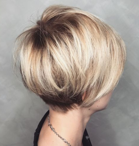 100 Mind Blowing Short Hairstyles For Fine Hair   Hair   Pinterest With Rounded Pixie Bob Haircuts With Blonde Balayage (View 4 of 25)