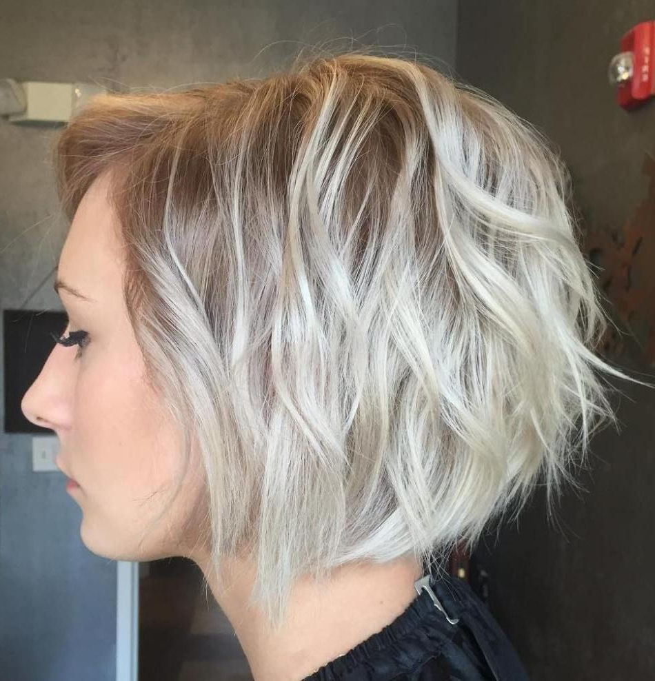 100 Mind Blowing Short Hairstyles For Fine Hair | Hair Style Regarding White Blonde Curly Layered Bob Hairstyles (View 5 of 25)