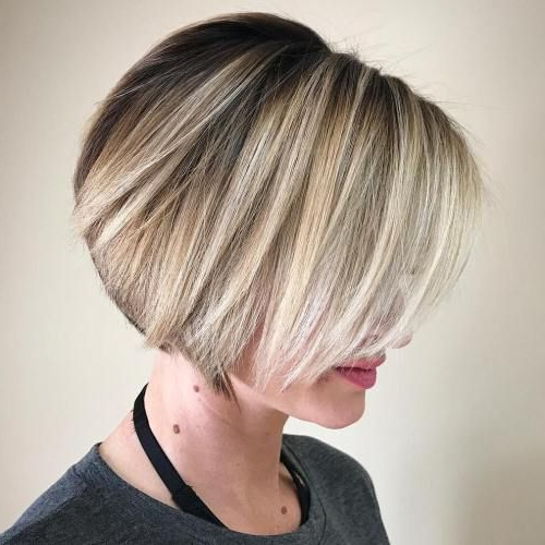 100 Mind Blowing Short Hairstyles For Fine Hair | Hair Styles For Neat Short Rounded Bob Hairstyles For Straight Hair (View 2 of 25)