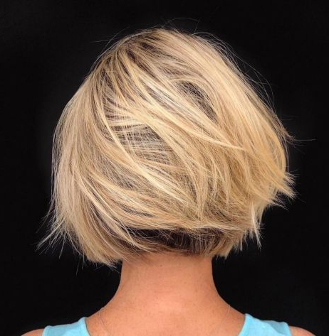 Featured Photo of Dynamic Tousled Blonde Bob Hairstyles With Dark Underlayer