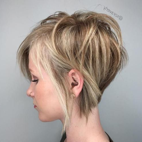 100 Mind Blowing Short Hairstyles For Fine Hair In 2018   Hair Dos In Rounded Pixie Bob Haircuts With Blonde Balayage (View 5 of 25)