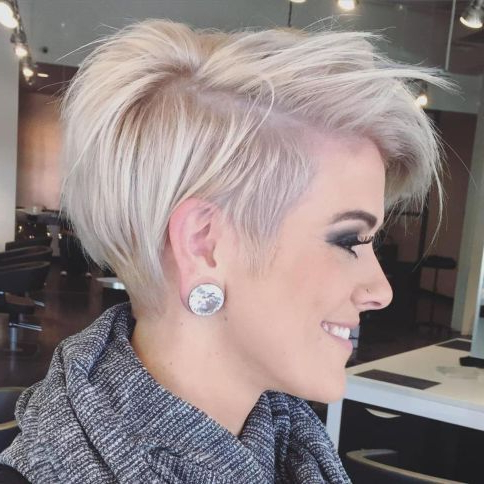 100 Mind Blowing Short Hairstyles For Fine Hair In 2018 | Hair Ideas Throughout Icy Poker Straight Razored Pixie Haircuts (View 2 of 25)