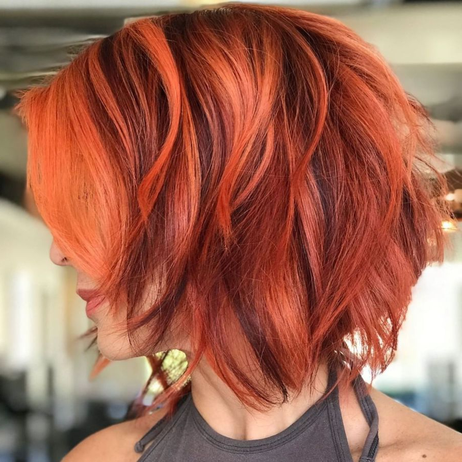 100 Mind Blowing Short Hairstyles For Fine Hair In 2018 | Haircolor Throughout Burgundy Short Hairstyles (View 18 of 25)
