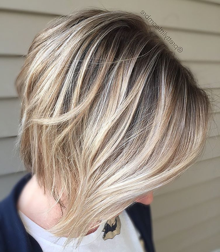 100 Mind Blowing Short Hairstyles For Fine Hair In 2018 | Hairstyles For Dynamic Tousled Blonde Bob Hairstyles With Dark Underlayer (View 9 of 25)