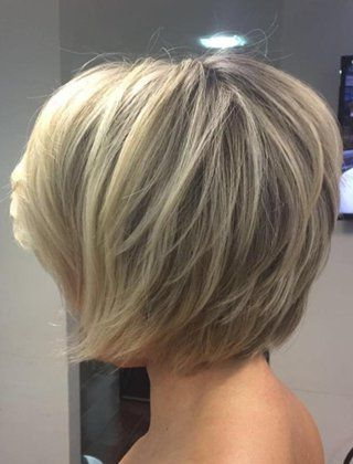 100 Mind Blowing Short Hairstyles For Fine Hair In 2018 | Hairstyles Regarding Rounded Tapered Bob Hairstyles With Shorter Layers (View 13 of 25)