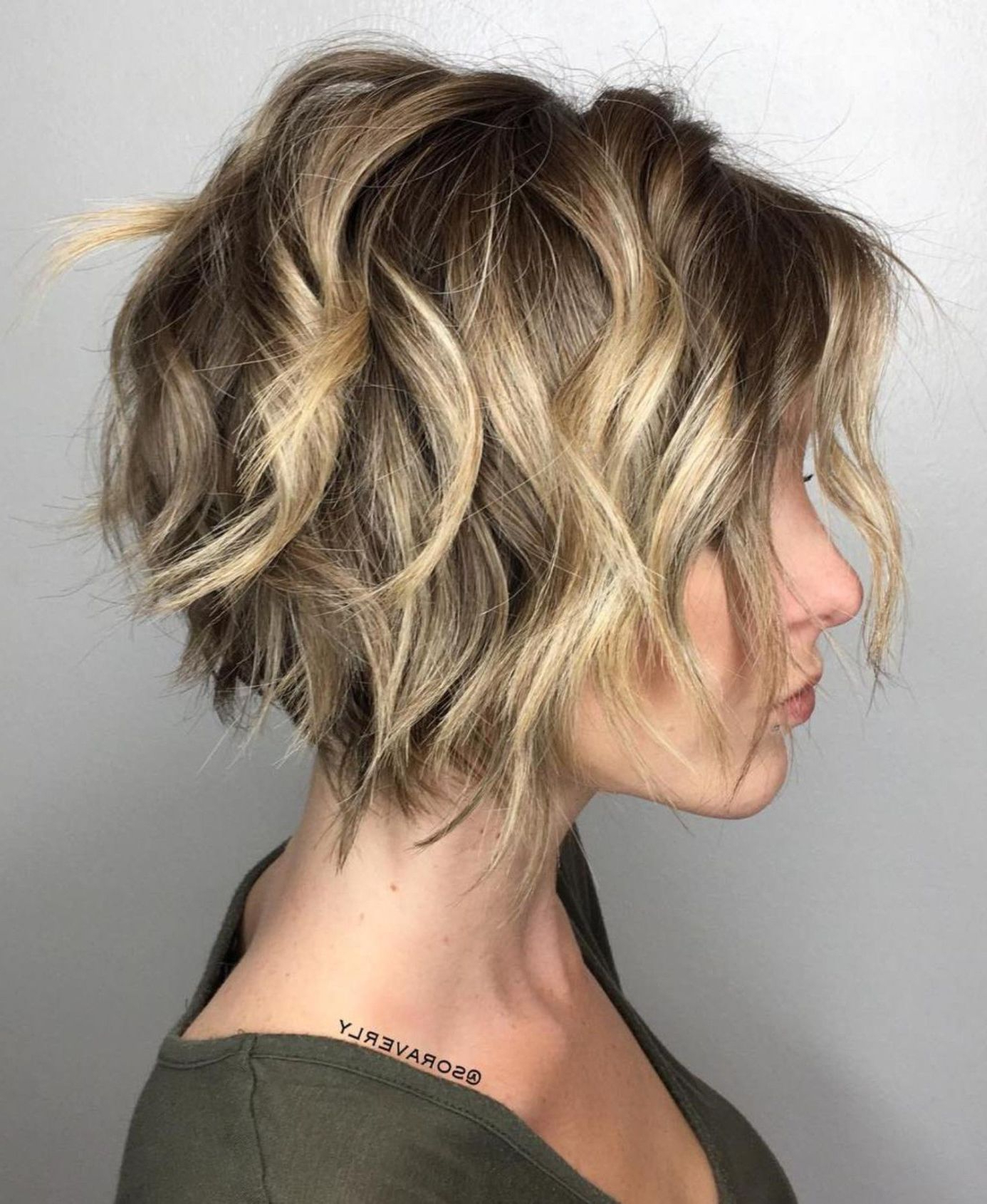 100 Mind Blowing Short Hairstyles For Fine Hair In 2018   Oh I'm In Nape Length Wavy Ash Brown Bob Hairstyles (View 23 of 25)