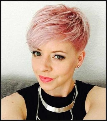 100 Mind Blowing Short Hairstyles For Fine Hair Inside Icy Poker Straight Razored Pixie Haircuts (View 14 of 25)