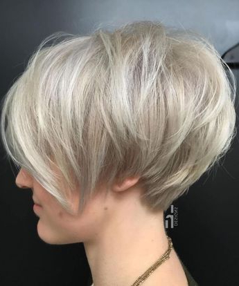 100 Mind Blowing Short Hairstyles For Fine Hair Intended For Icy Poker Straight Razored Pixie Haircuts (View 9 of 25)