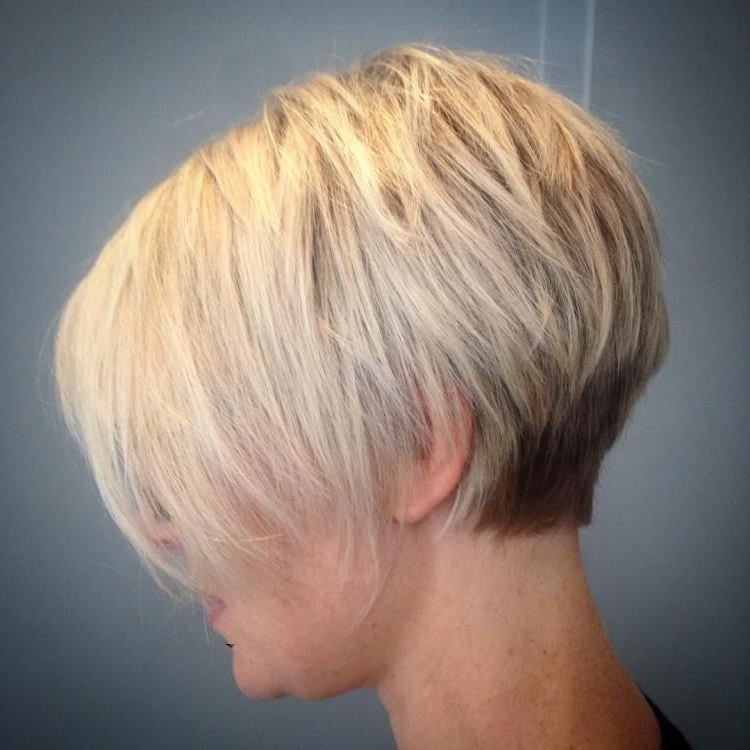 Photo Gallery Of Two Tone Stacked Pixie Bob Haircuts Showing 2 Of