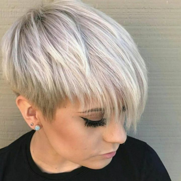 100 Mind Blowing Short Hairstyles For Fine Hair Throughout Icy Poker Straight Razored Pixie Haircuts (View 13 of 25)