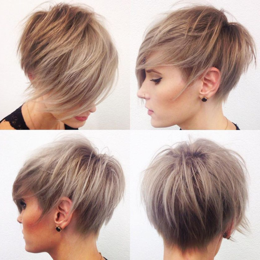 100 Mind Blowing Short Hairstyles For Fine Hair | Very Short Within Razored Pixie Bob Haircuts With Irregular Layers (View 10 of 25)